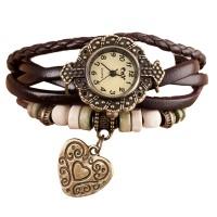 Дамски гривни-часовници със сърце в два цвята