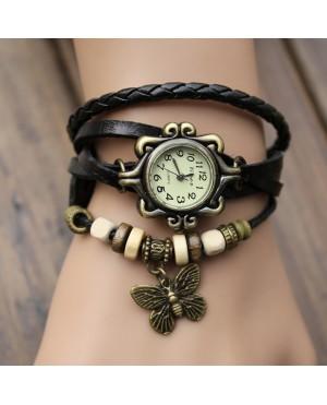 Дамски гривни-часовник с пеперуда