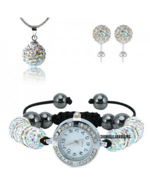 Дамски комплект Шамбала - часовник, колие и обеци