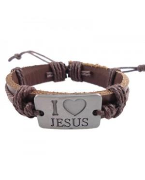 "Мъжки гривни ""I Love Jesus"""