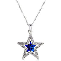 Дамски колиета със синя звезда