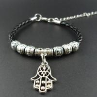 Унисекс гривни Fatima - бял и черен цвят