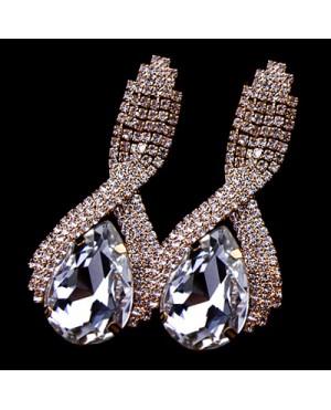"""Дамски обеци с голям кристал """"Lorein"""""""