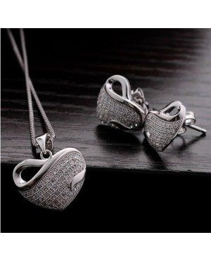 Дамски комплект бижута сребърни сърца