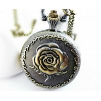Дамски часовници за врат с роза