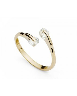 Дамски пръстени с два кристала