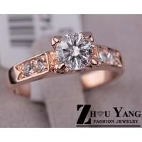 Дамски пръстени с няколко кристала