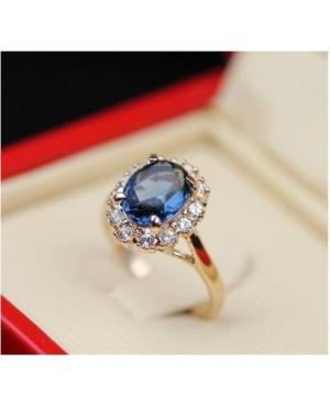 Дамски пръстени със син кристал
