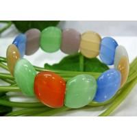 Многоцветни дамски гривни от опал