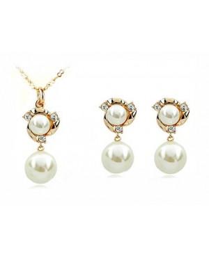 Комплект бижута с перли