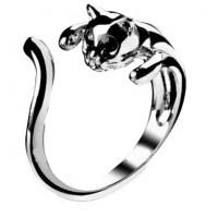 Дамски пръстени с котенце