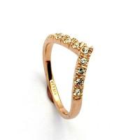 Позлатен дамски пръстен